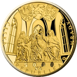 Чехия монета 5000 крон Швиховский замок, аверс