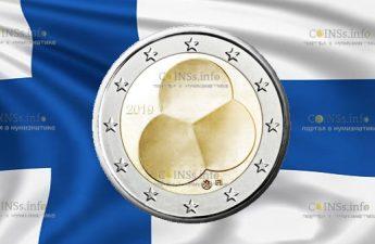 Финляндия монета 2 евро Конституционный закон Финляндии 1919 года