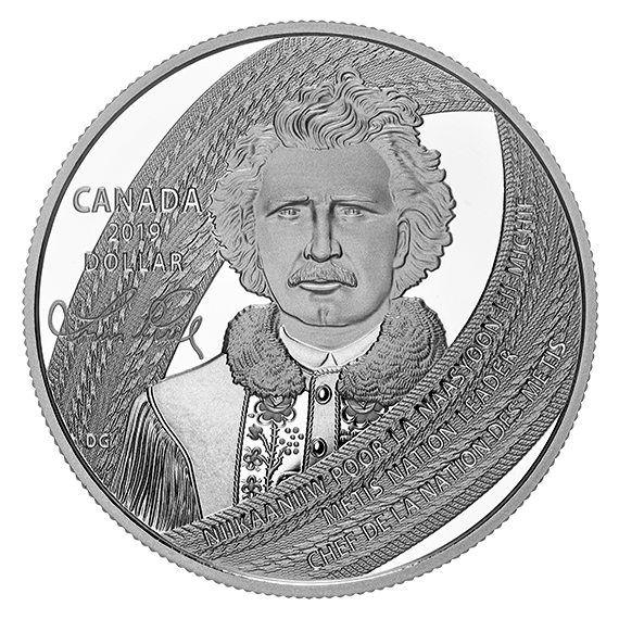 Канада монета 1 доллар Луи Риэль, реверс