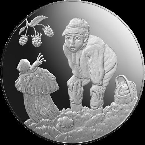 Латвия монета 5 евро Дары Леса, реверс