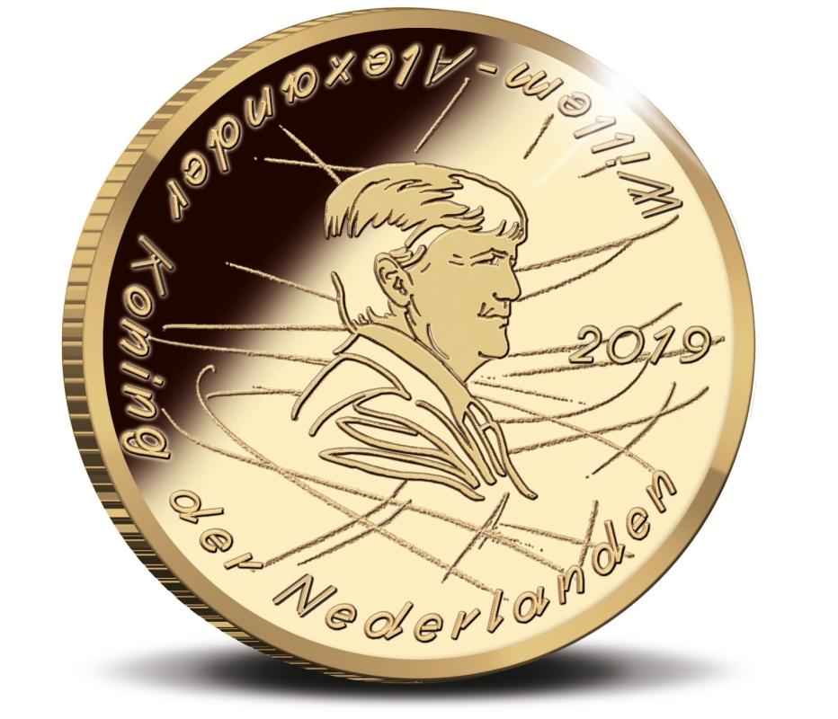 Нидерланды монета 10 евро Яап Иден, аверс