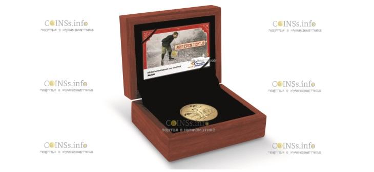 Нидерланды монета 10 евро Яап Иден, подарочная упаковка