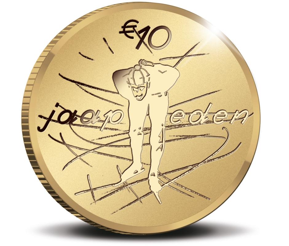 Нидерланды монета 10 евро Яап Иден, реверс