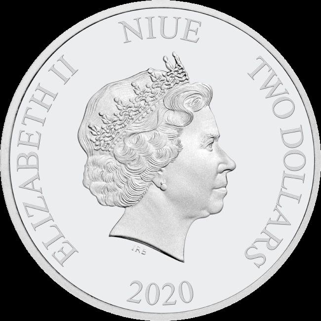 Ниуэ монета 2 доллара, 2020 год, аверс