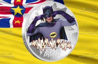 Ниуэ монета 2 доллара Бетмен