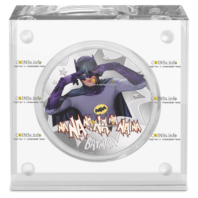 Ниуэ монета 2 доллара Бетмен, подарочная упаковка