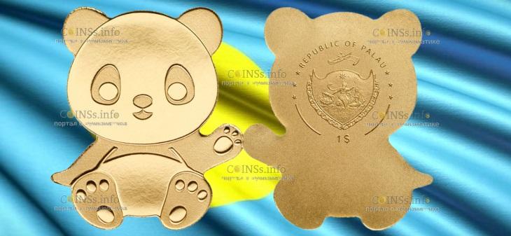 Палау монета 1 доллар Маленькая Панда