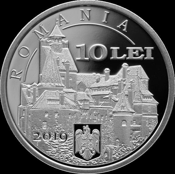 Румыния монета 10 лей 70 лет установления дипломатических отношений между Румынией и КНР, аверс