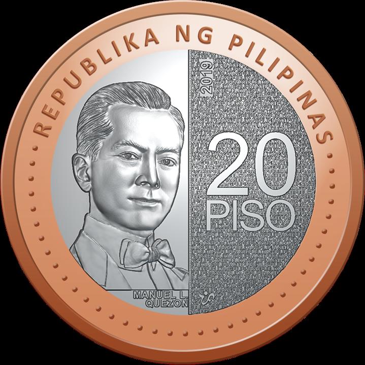Филиппины циркуляционная монета 20 песо, аверс
