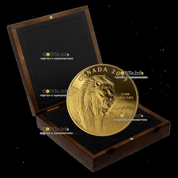 Канада монета 2500 долларов Лев, подарочная упаковка