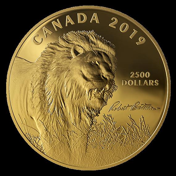 Канада монета 2500 долларов Лев, реверс