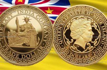 Ниуэ монета 250 долларов из серии World Trade