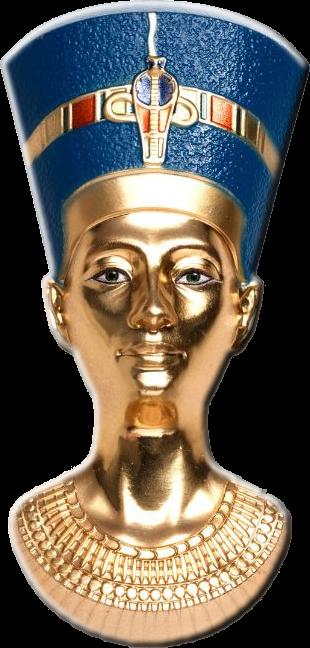 Палау монета 20 долларов Бюст Нефертити, реверс