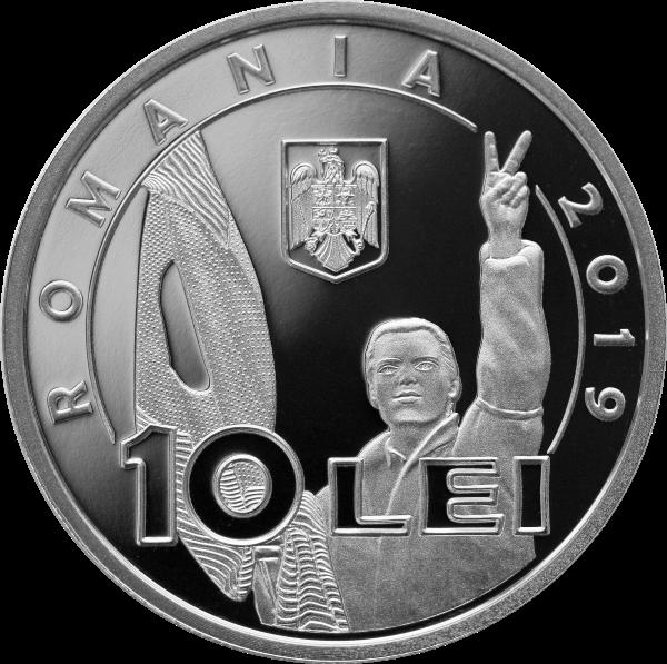 Румыния монета 10 лей 30 лет Румынской революции 1989 года, аверс