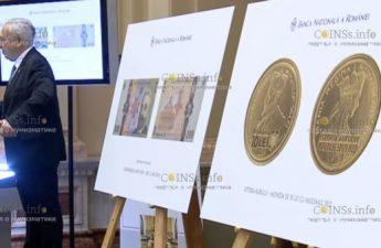 Румыния монета 10 лей коронация короля Румынии Фердинанда I и королевы Марии