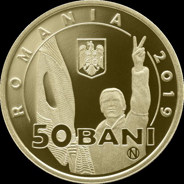 Румыния монета 50 бани 30 лет Румынской революции 1989 года, аверс