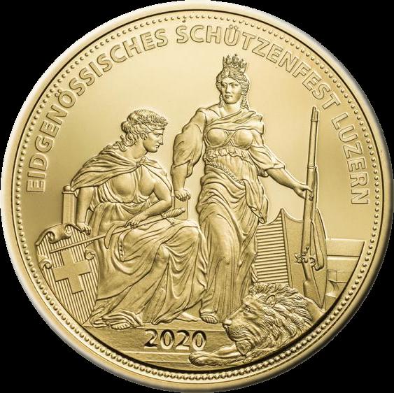 Швейцария монета 500 франков, реверс