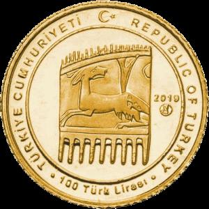 Турция монета 100 лир Восточный Рим, аверс
