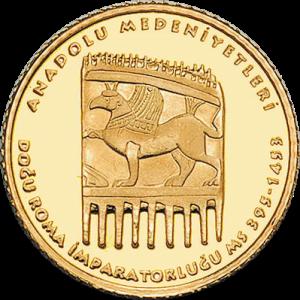 Турция монета 100 лир Восточный Рим, реверс