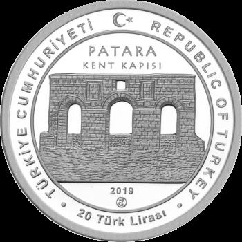 Турция монета 20 лир Патара, аверс