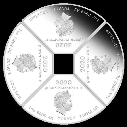 Тувалу выпускает серию монет Quadrant Mouse, аверс
