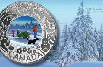 В Канаде вышла в обращение монета 3 доллара Поиск идеальной елки