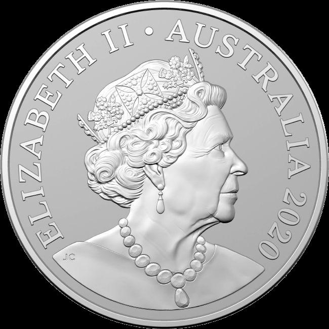 Австралия монета 1 доллар Кукабарра с Бранденбургскими воротами, аверс