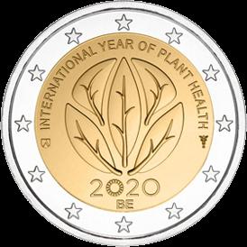 Бельгия монета 2 евро Международный год здоровья растений, реверс