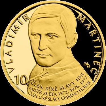 Чехия монета 25 долларов Владимир Мартинец, реверс