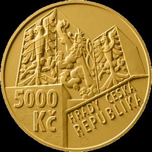Чехия монета 5000 крон Бухловский замок, аверс