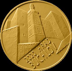 Чехия монета 5000 крон Бухловский замок, реверс