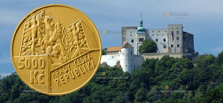Чехия монета 5000 крон Бухловский замок