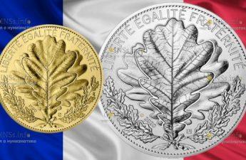 Франция монеты серии Природа Франции