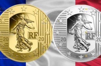 Франция монеты серии, Сеятель - Новый Франк