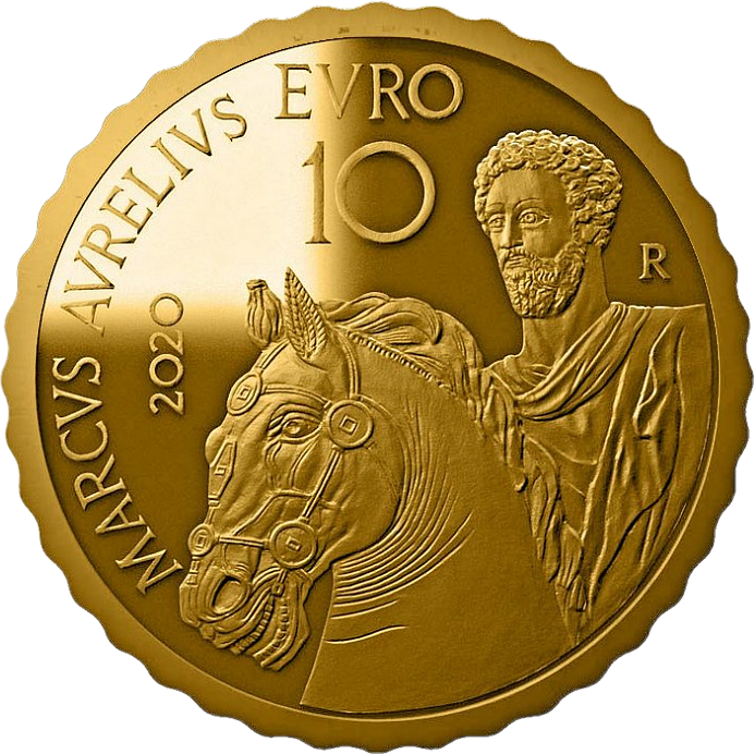 Италия монета 10 евро Марк Аврелий, реверс