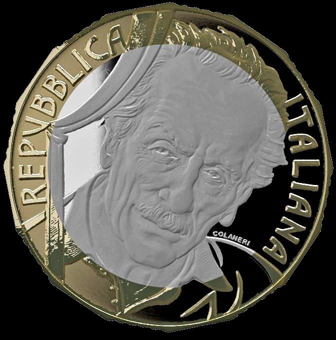 Италия монета 5 евро Эдуардо Де Филиппо, аверс