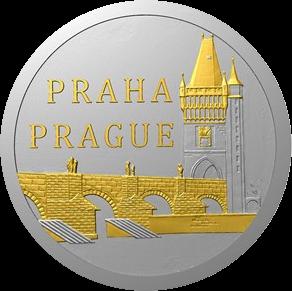 Ниуэ монета 1 доллар Карлов мост, реверс