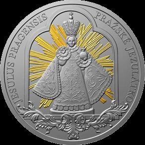Ниуэ монета 1 доллар Младенец Иисус из Праги, реверс