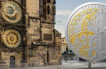 Ниуэ монета 1 доллар Пражские куранты