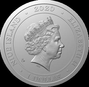 Ниуэ монета 1 доллар серии Пражские мотивы, 2020, аверс