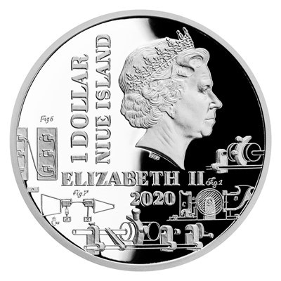 Ниуэ монета 1 доллар Томас Эдисон, аверс — копия