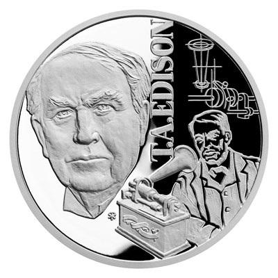 Ниуэ монета 1 доллар Томас Эдисон, реверс