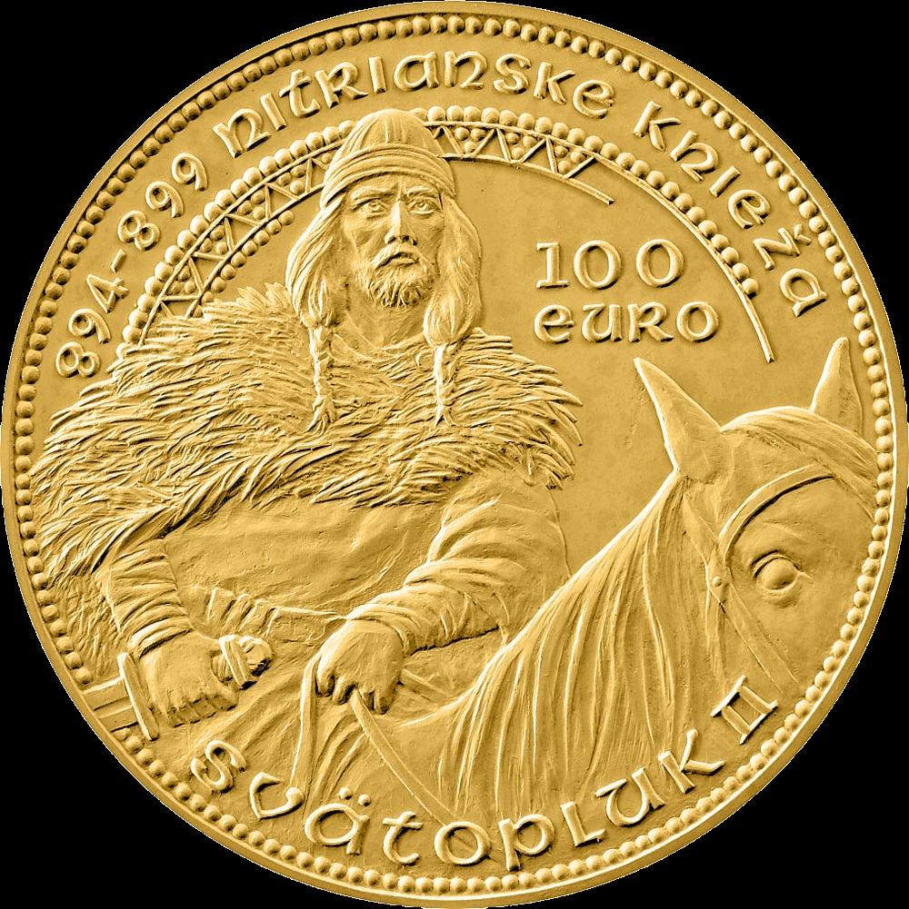 Словакия монета 100 евро Сватоплук II, реверс