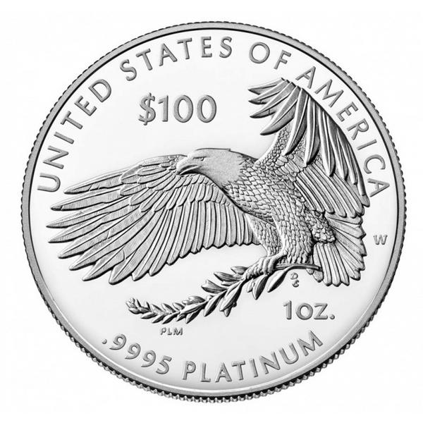 США монета 100 долларов В погоне за счастьем, реверс