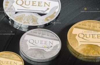 The Royal Mint выпускает в обращение серию монет, которые посвящены группе The Queen