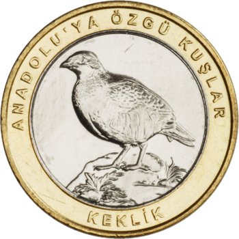 Турция монета 1 лира Кеклик, реверс