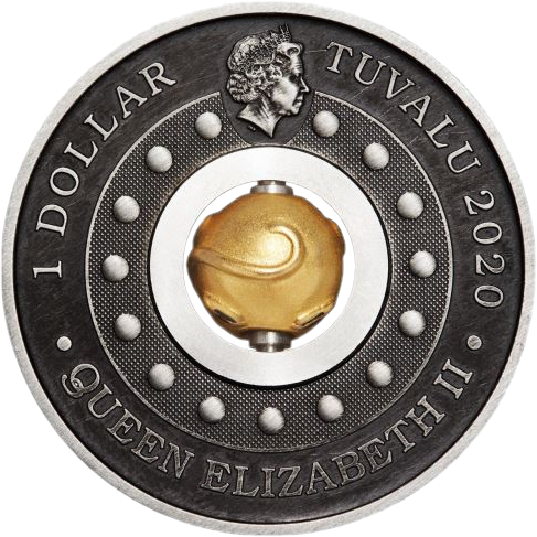 Тувалу монета 1 доллар Год крысы, аверс