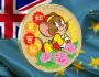 Тувалу монета 1 доллар Том и Джери