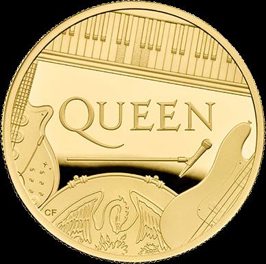 Великобритания монета 100 фунтов группа The Queen, реверс