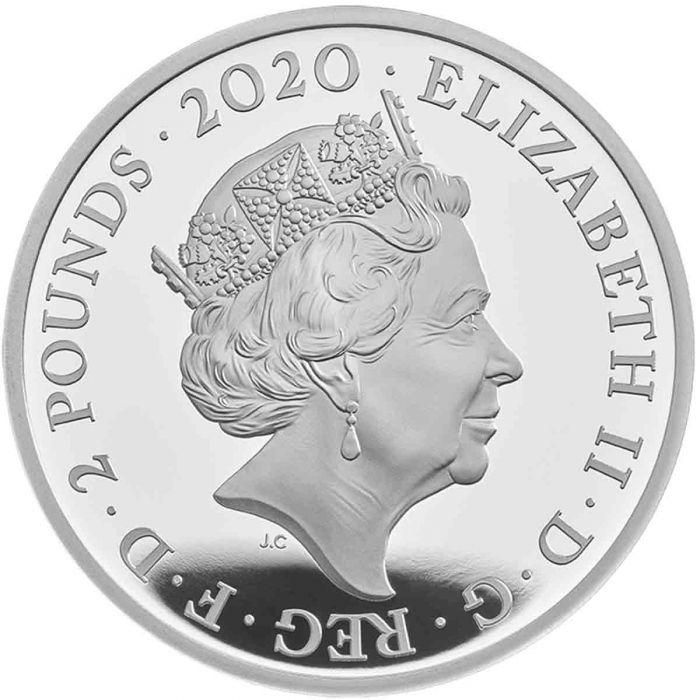 Великобритания монета 2 фунта группа The Queen, аверс